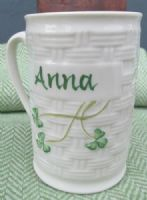 Belleek Classic Shamrock Personalised Name Mug